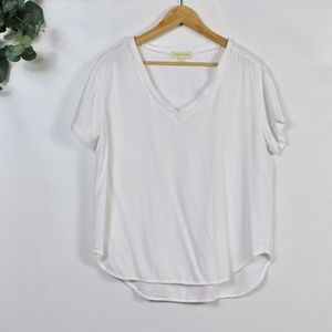 Cloth & Stone V-Neck Short Sleeve Top